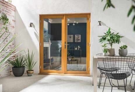 Kinsley Golden Oak French Doors