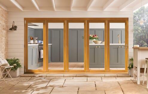 Kinsley Golden Oak Bifold Doors