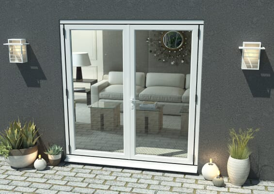 1800mm Open Out White Aluminium French Doors