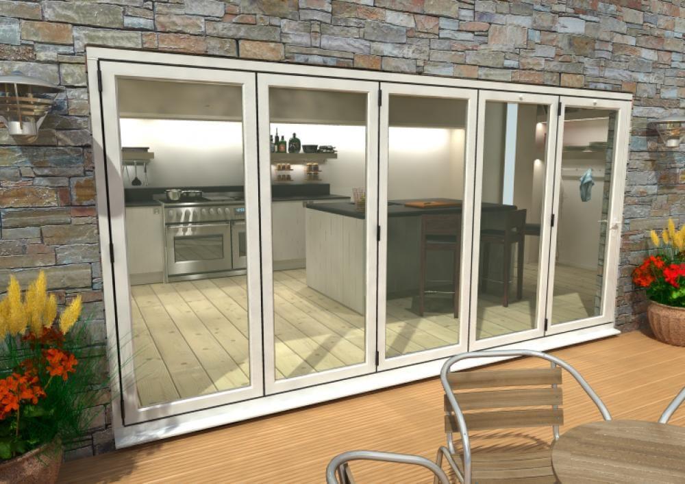 Climadoor White Aluminium Bifolding Patio Doors Image