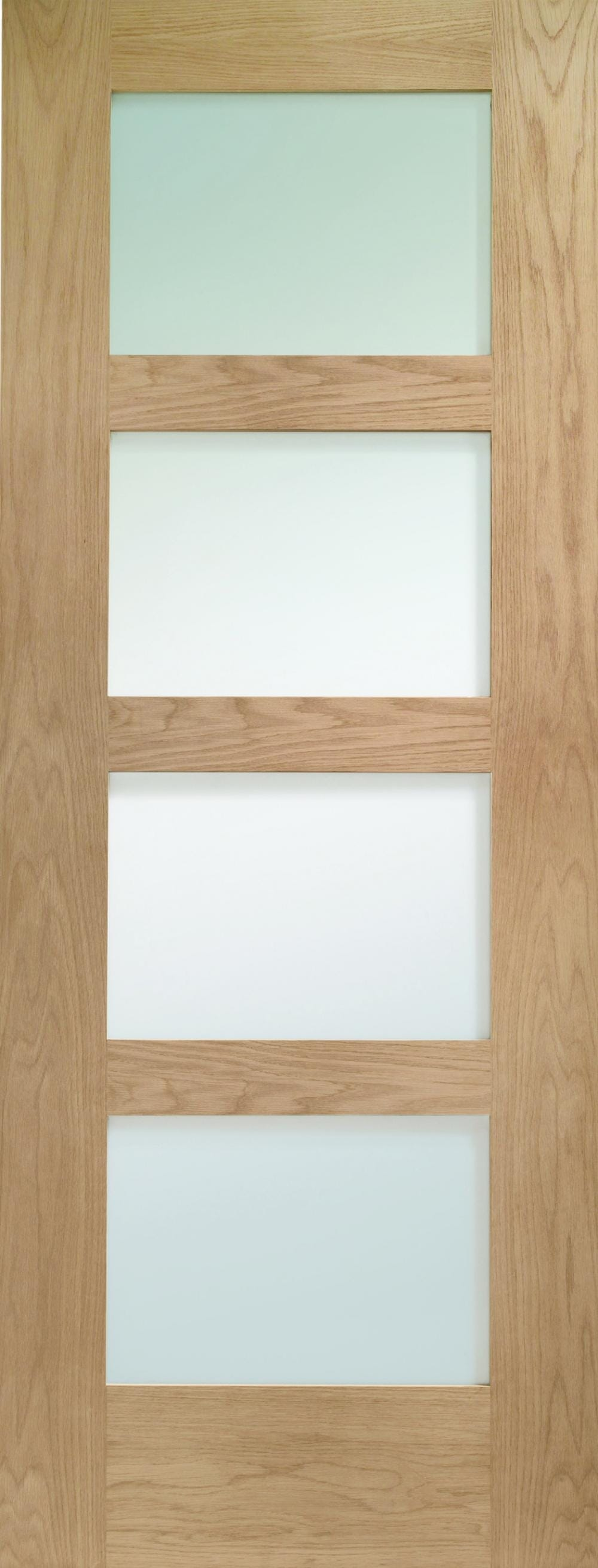 Oak Shaker 4 Light - Prefinished Clear Image
