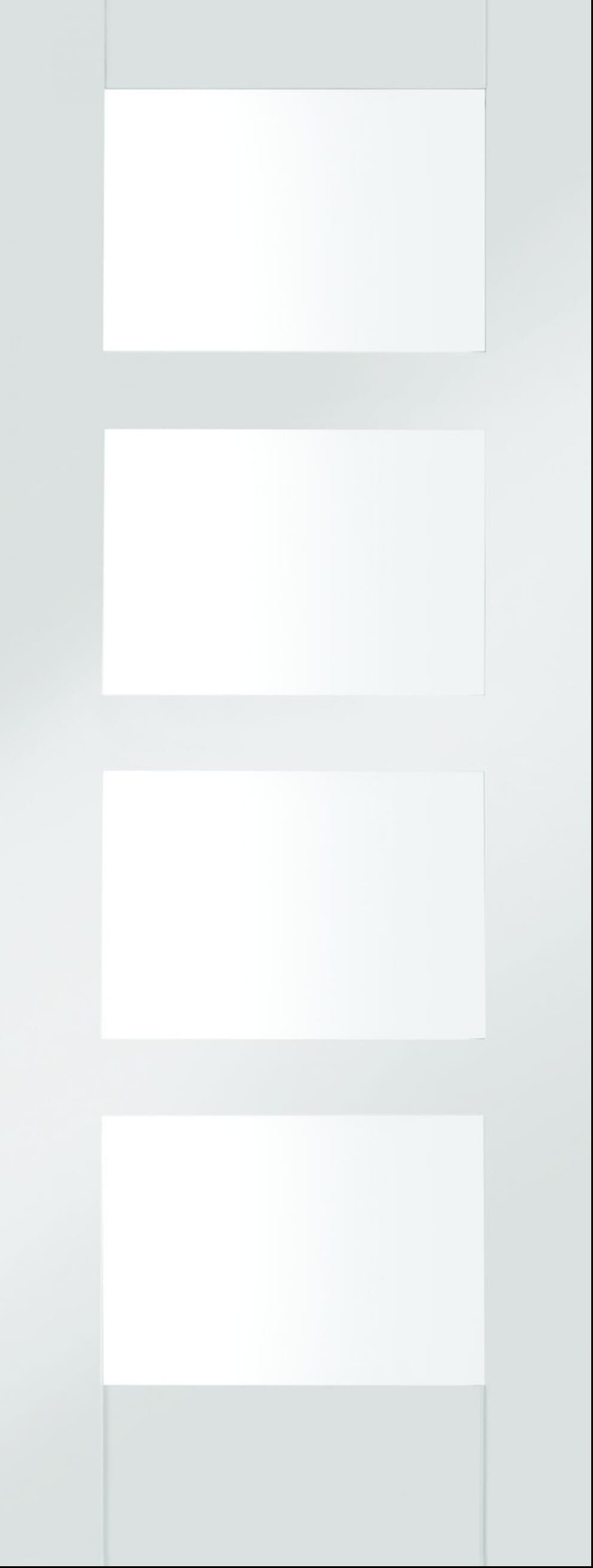 4 Light White Shaker - Clear Glass Image