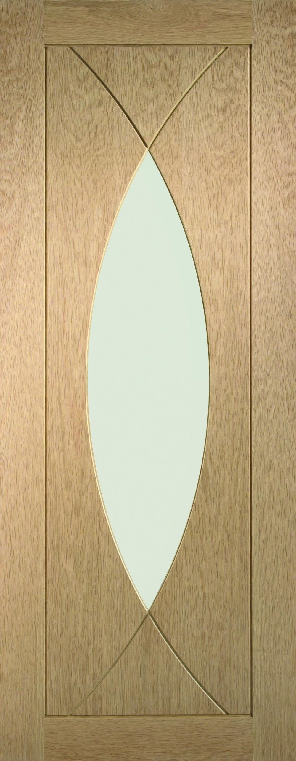 Pesaro Oak - Prefinished Clear Glass Image