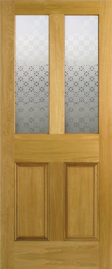 Malton Screen-print Glazed Oak Image