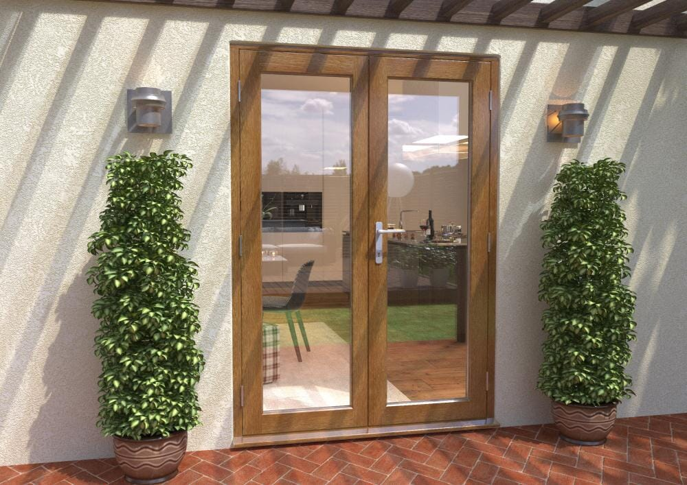 Solid Oak French Doors - 58mm Supreme Image