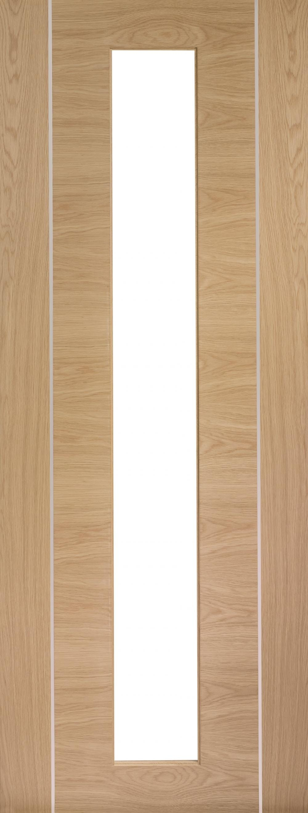 Forli Oak - Prefinished (alum Inlay) Clear Glass Image