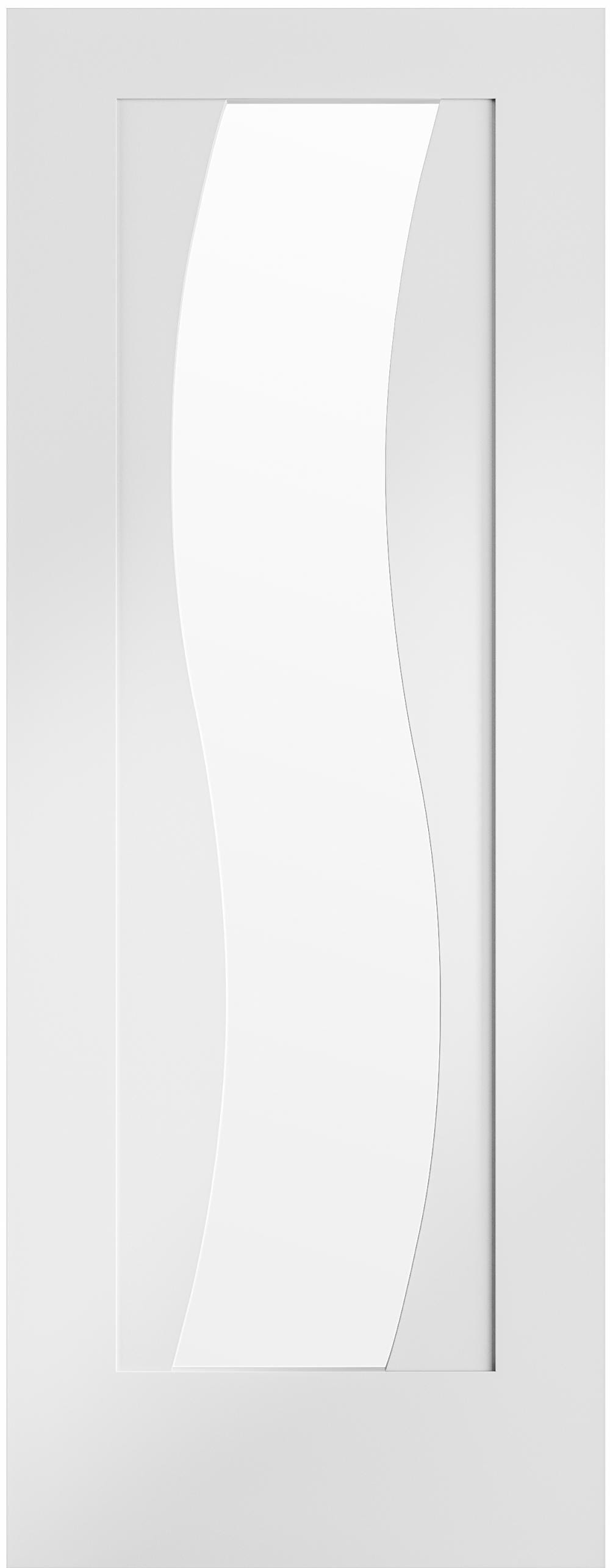 Florence White - Clear Glass Prefinished Image