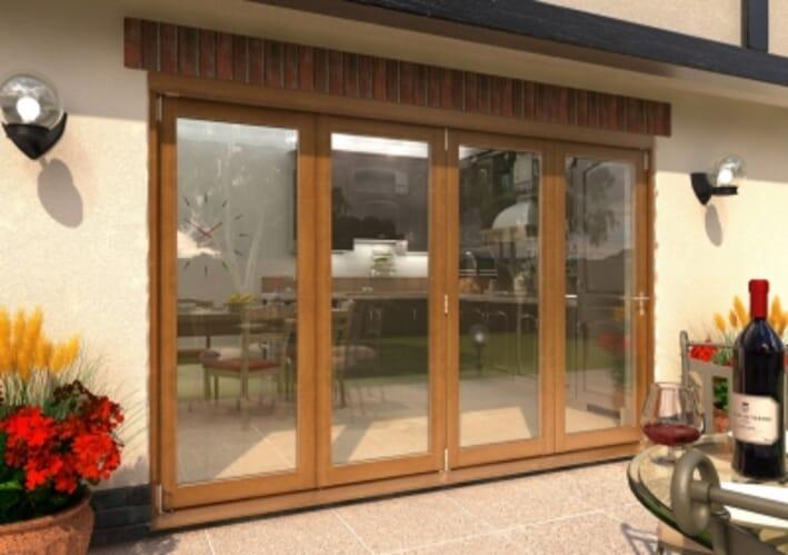 Climadoor Supreme Solid Oak Bifold Doors Image