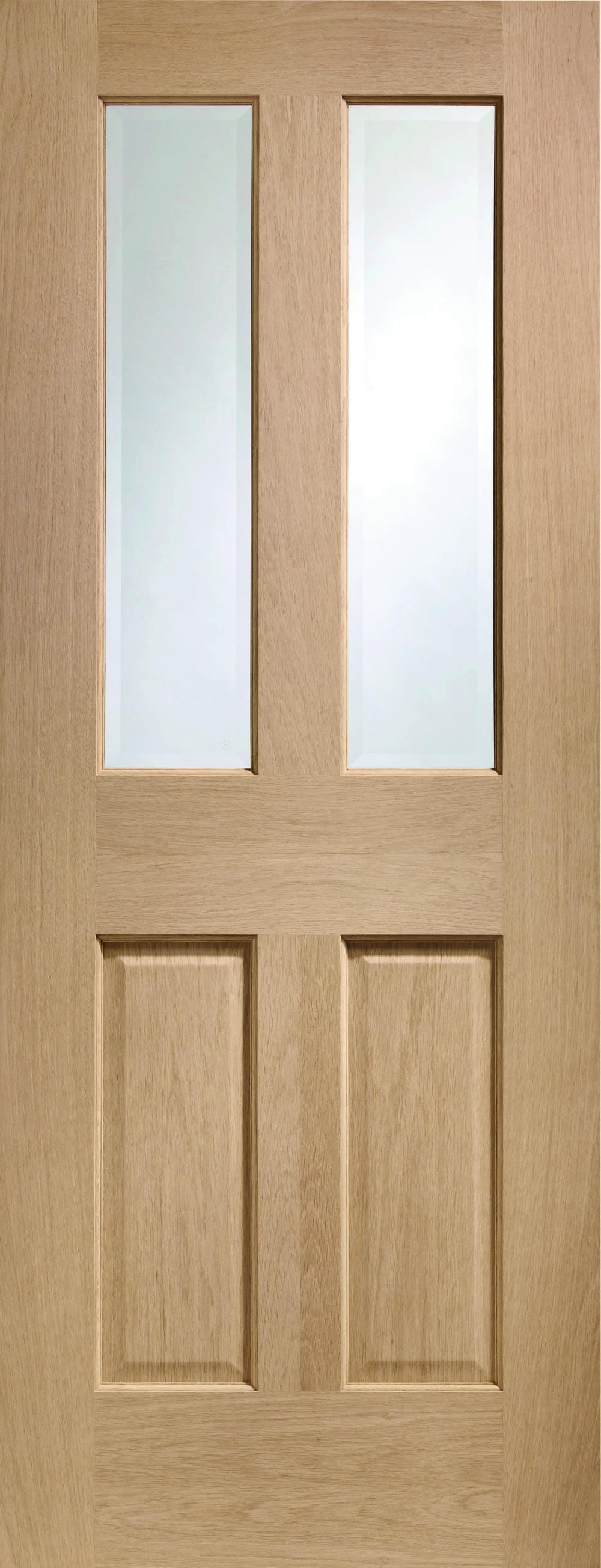 Malton Oak  - Prefinished Clear Bevelled Glass Image