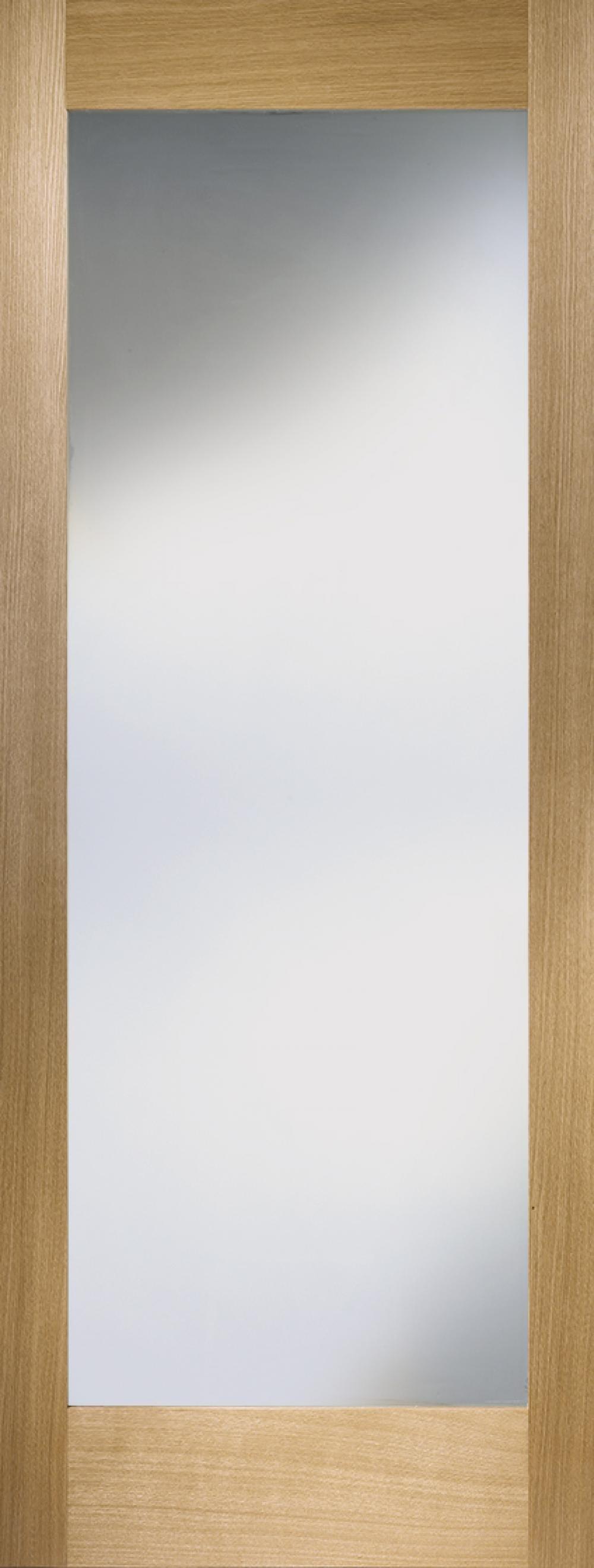 Oak Shaker 1 Light - Prefinished Frosted Image
