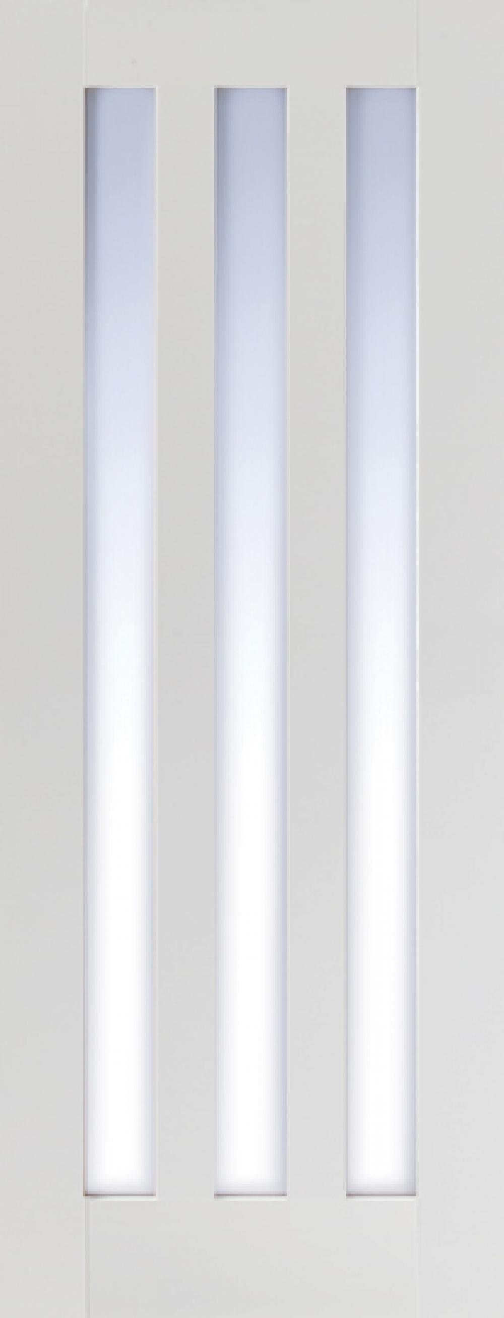 Utah White 3 Light - Clear Glass Image
