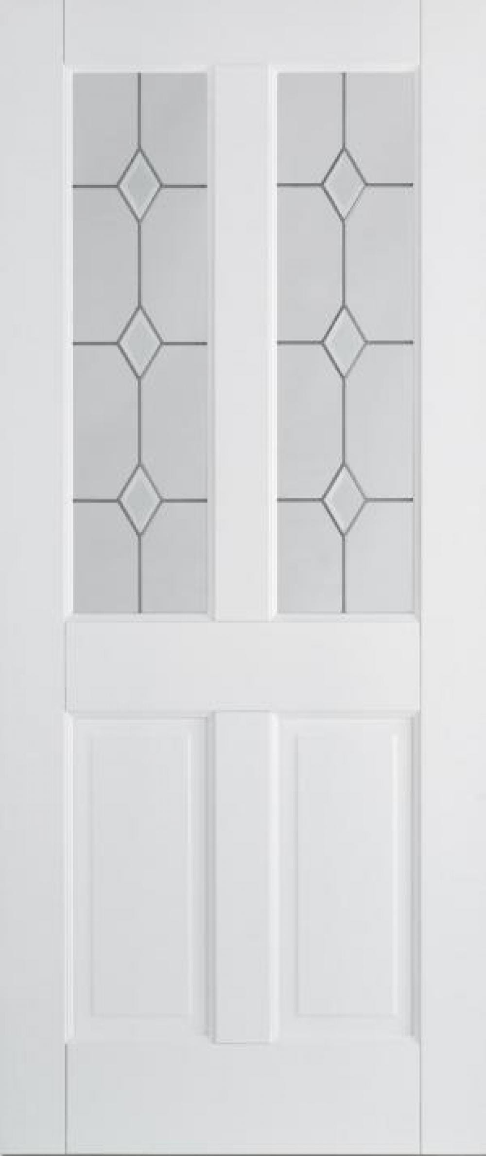 Canterbury White 2p/2l Glazed Image