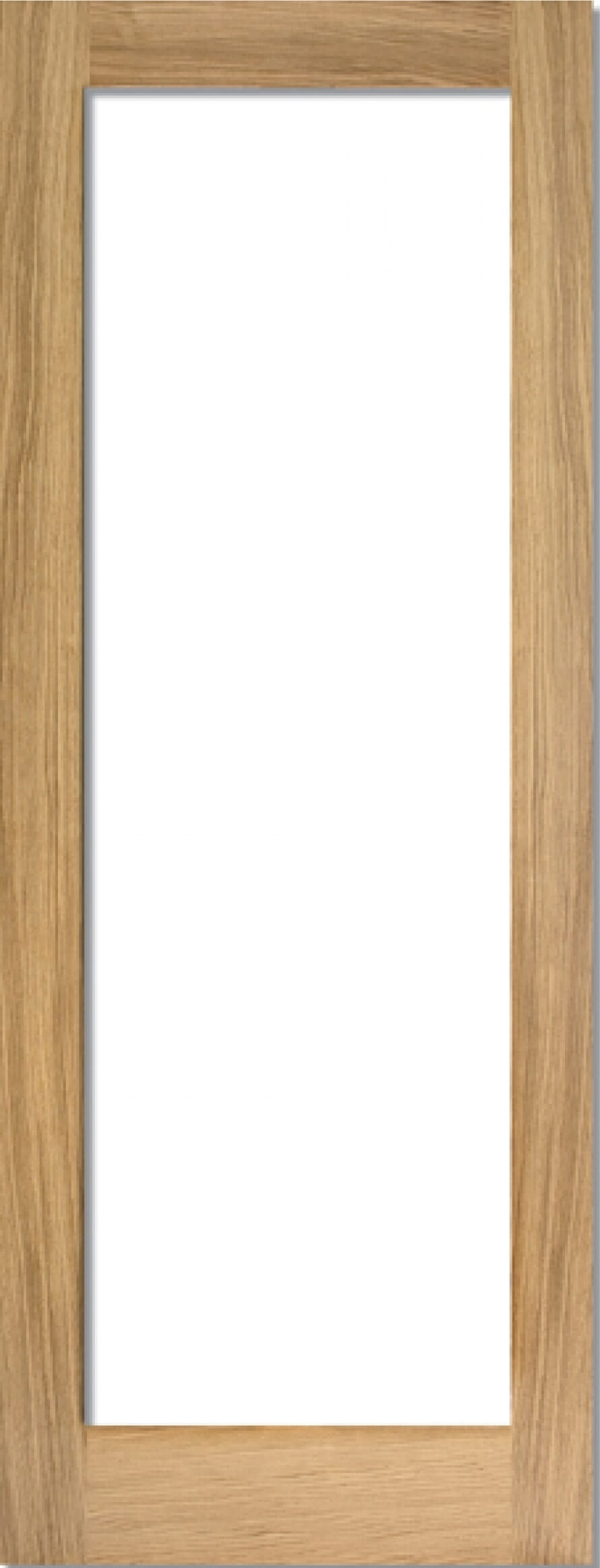 Oak Shaker 1 Light - Prefinished Clear Image