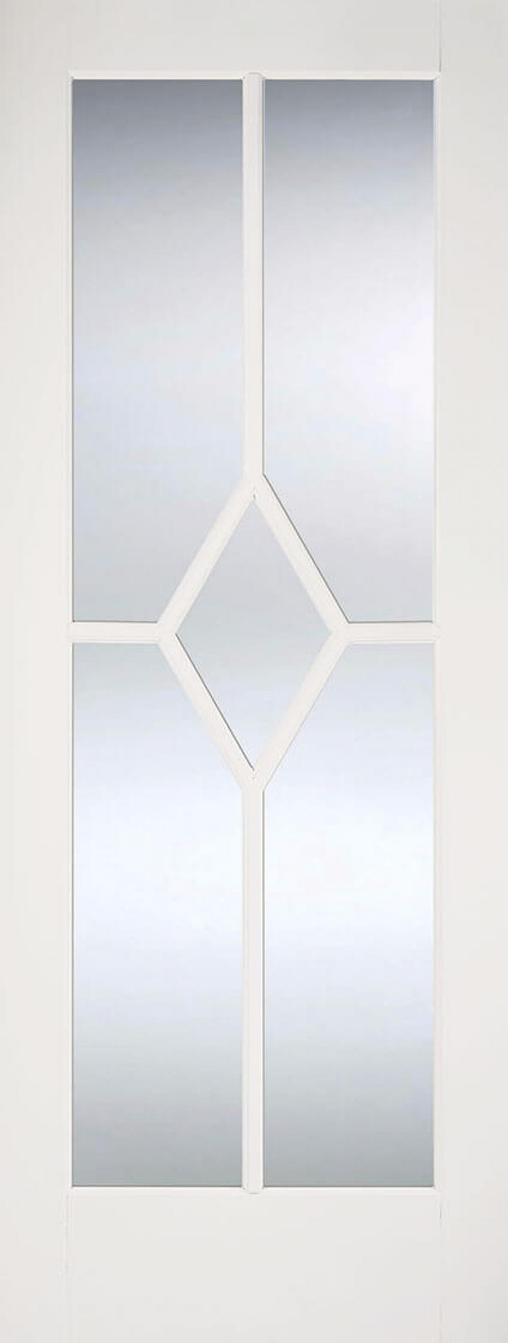 Reims White - Clear Bevelled Glass Image