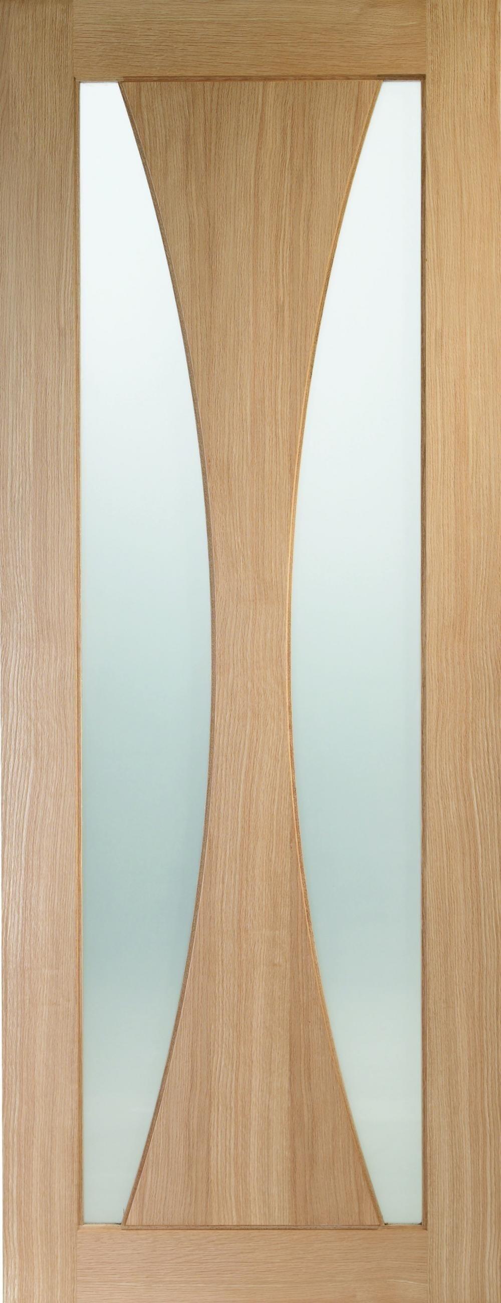Verona Oak - Clear Glass Fire Door Image
