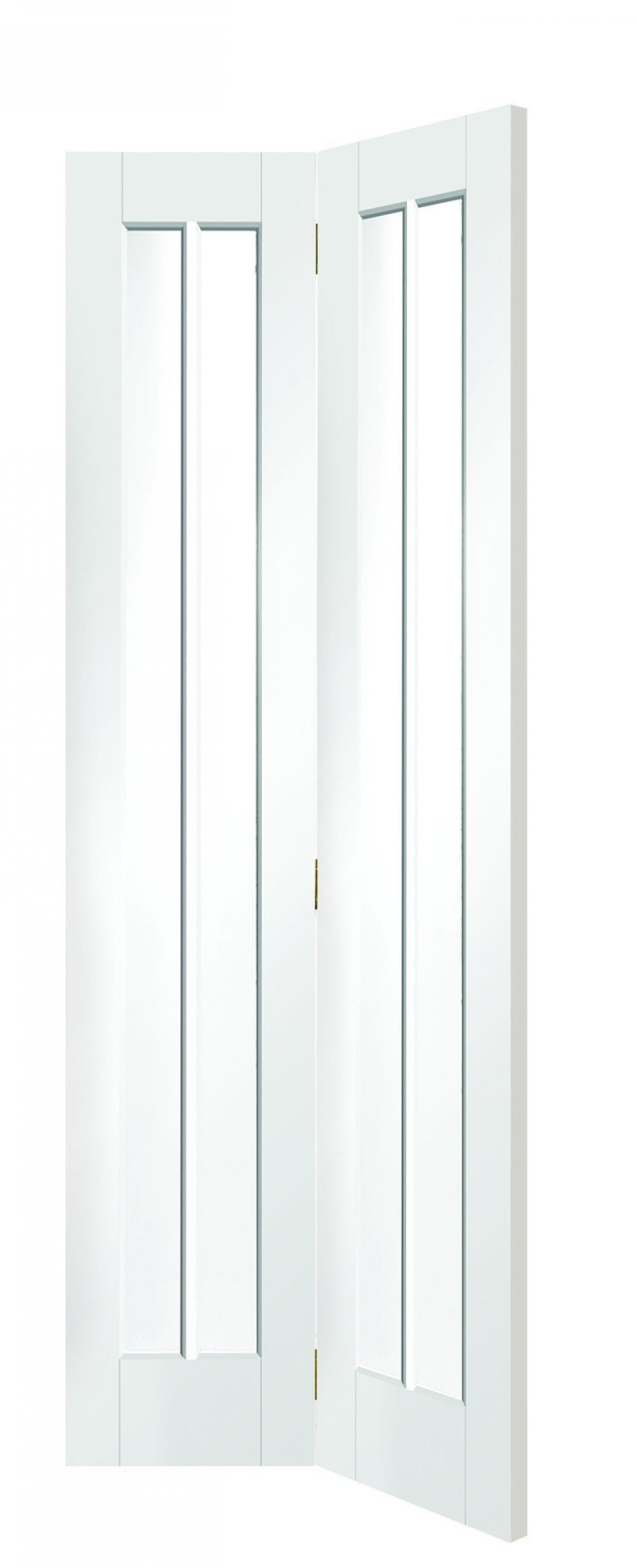 Worcester White Bi-fold - Clear Glass Image