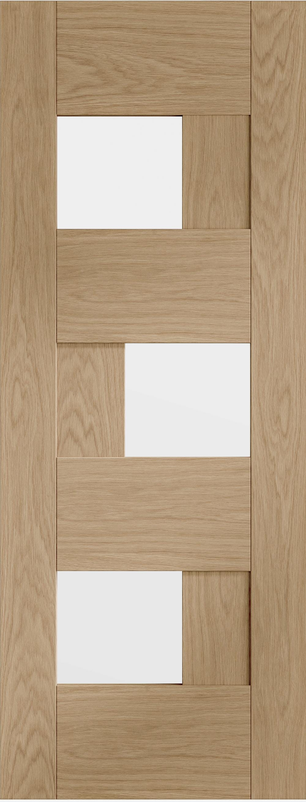 Perugia Oak - Clear Glass Prefinished Image