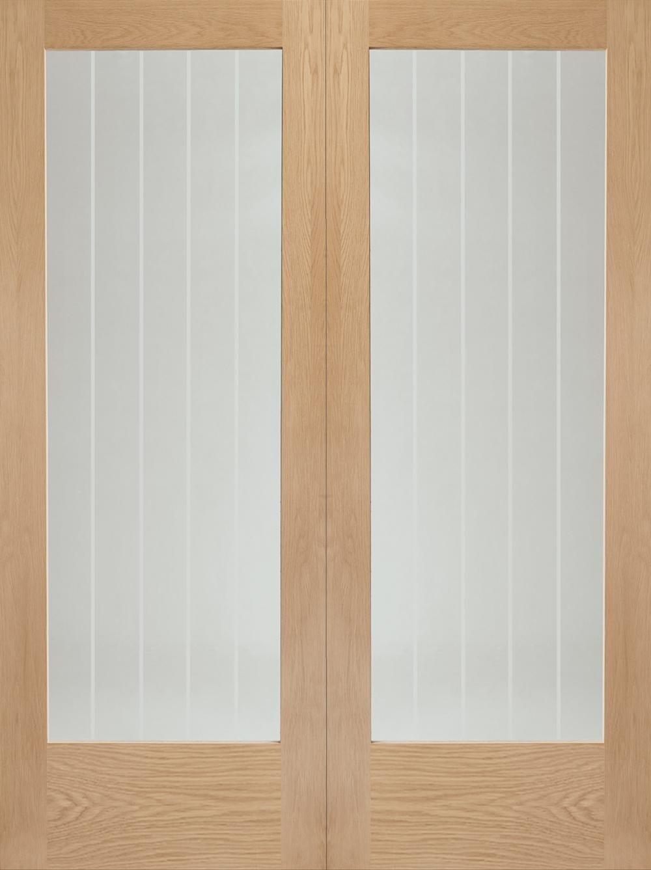 Suffolk Oak Pair - Clear Glazed Image