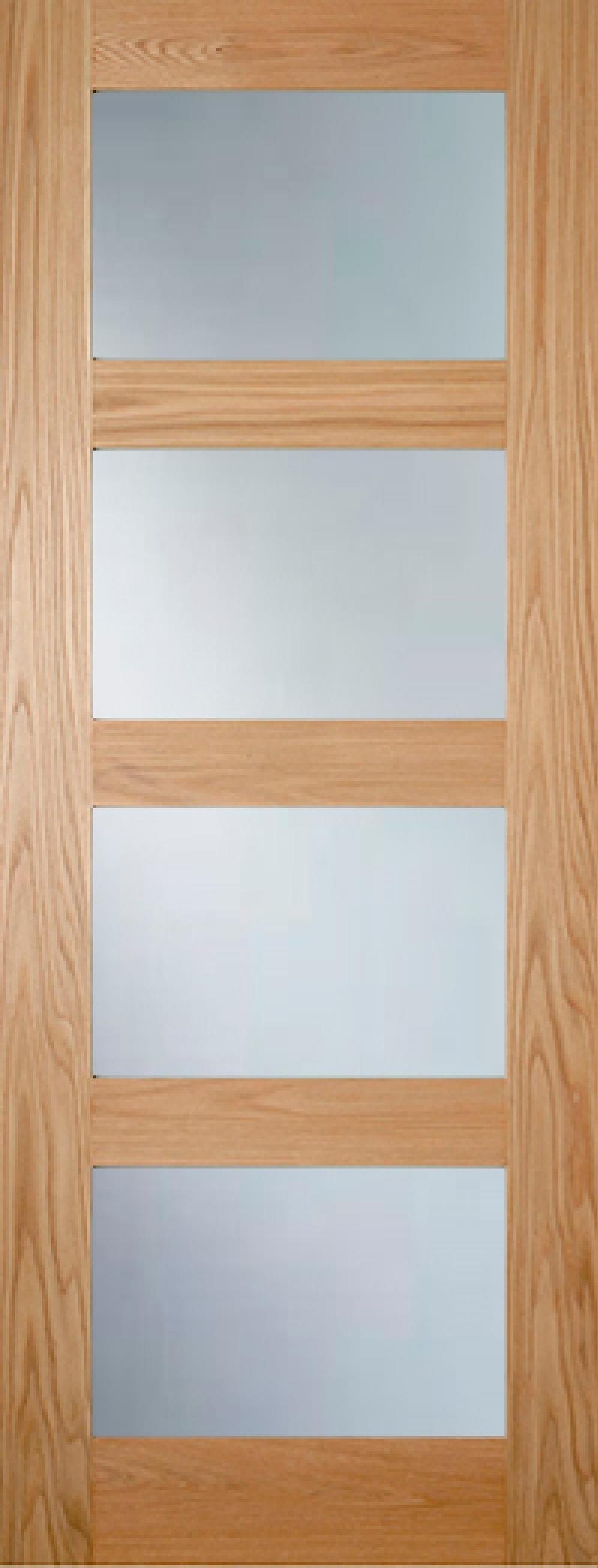 Coventry Glazed Oak Shaker - Clear Image