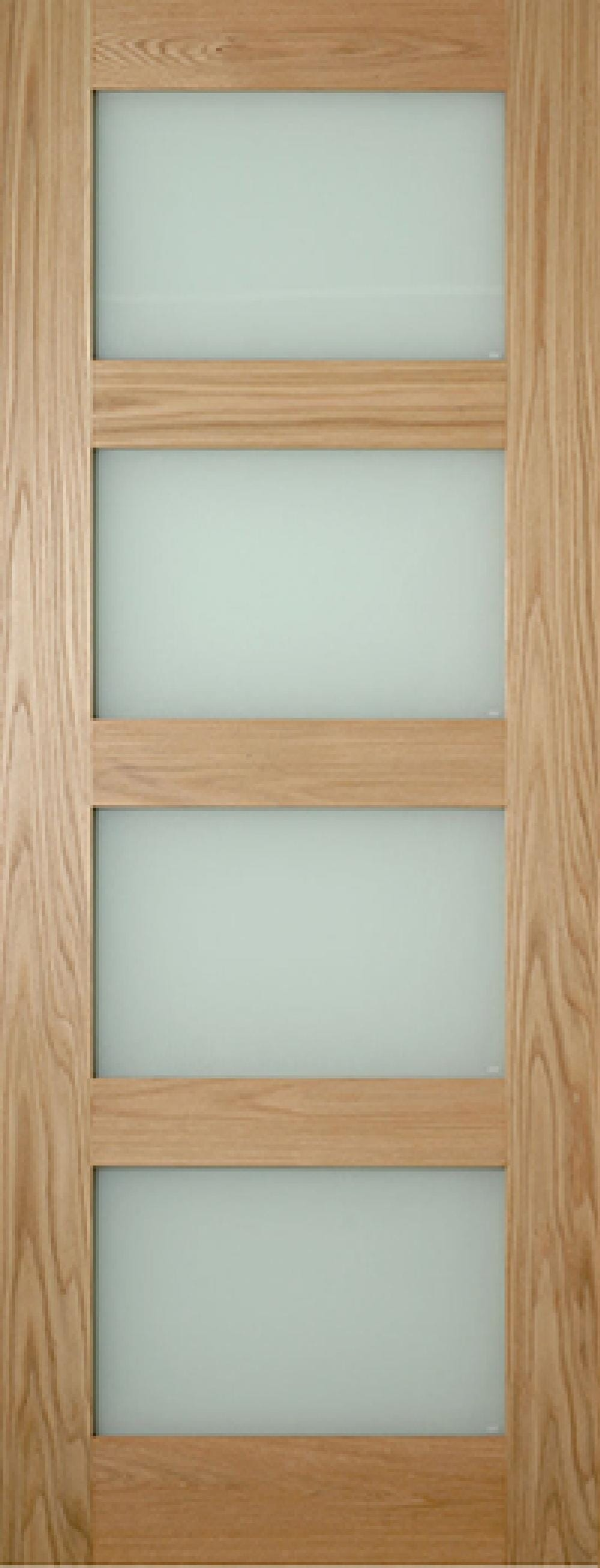 Coventry Glazed Oak Shaker - Frosted Glass Image