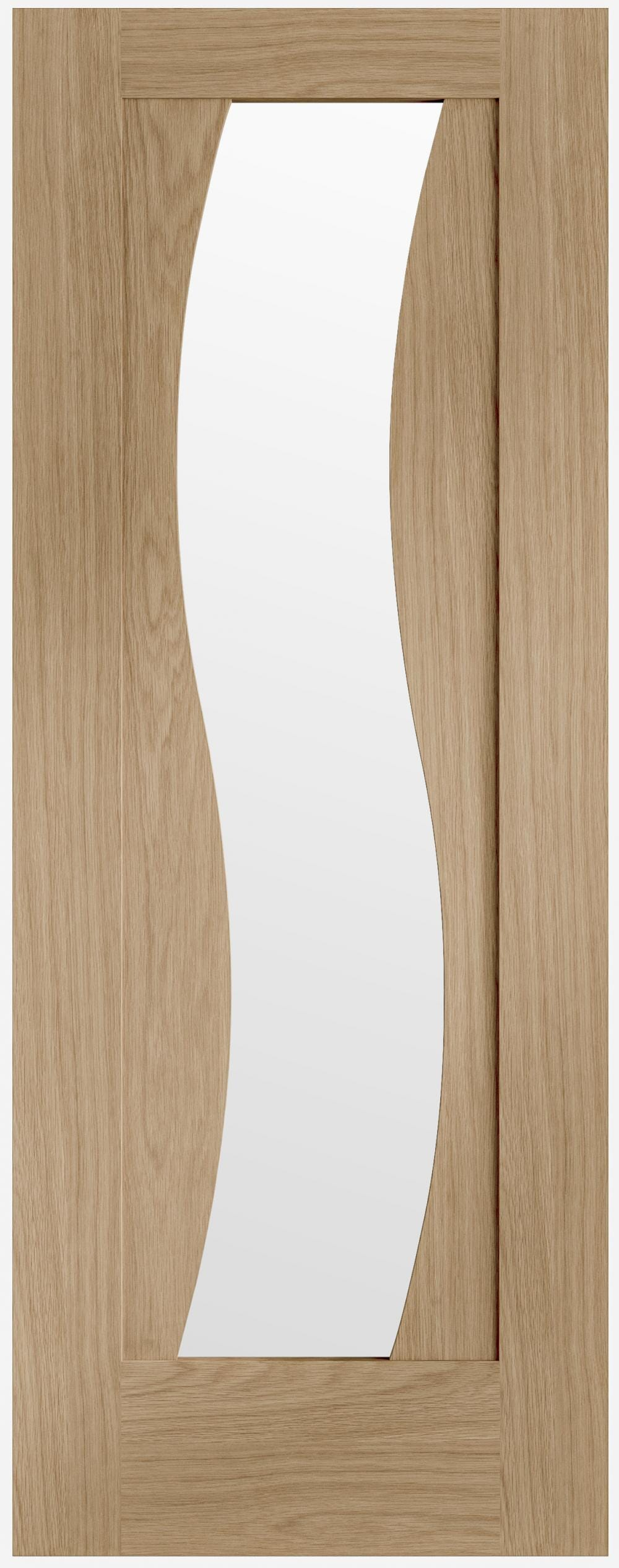 Florence Oak - Clear Glass Prefinished Image