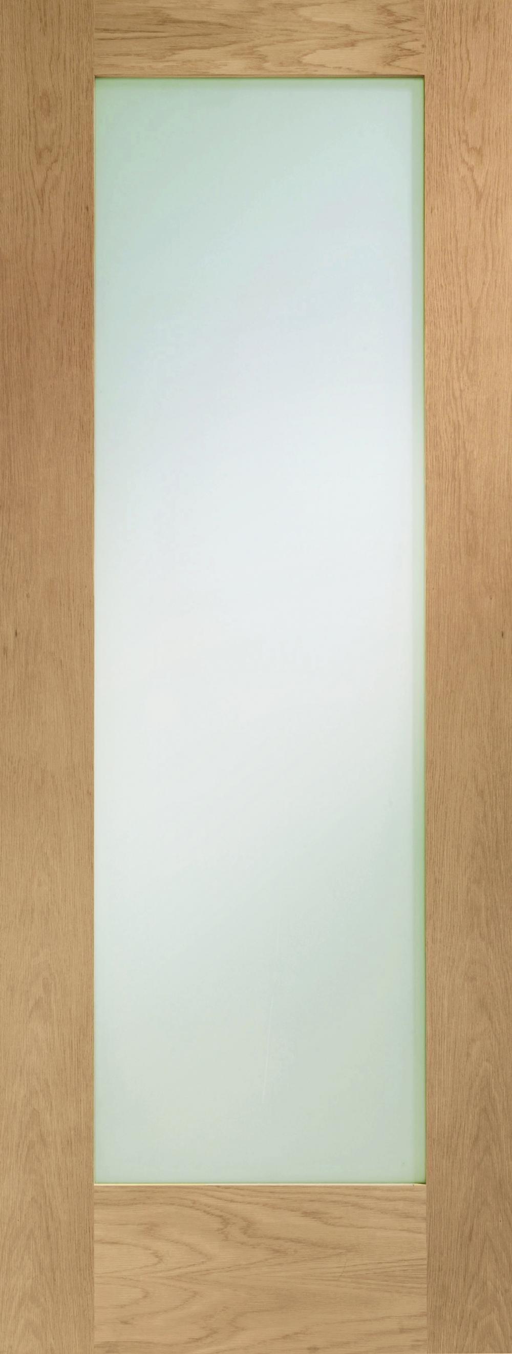 Pattern 10 Oak - Prefinished Clear Glass Image