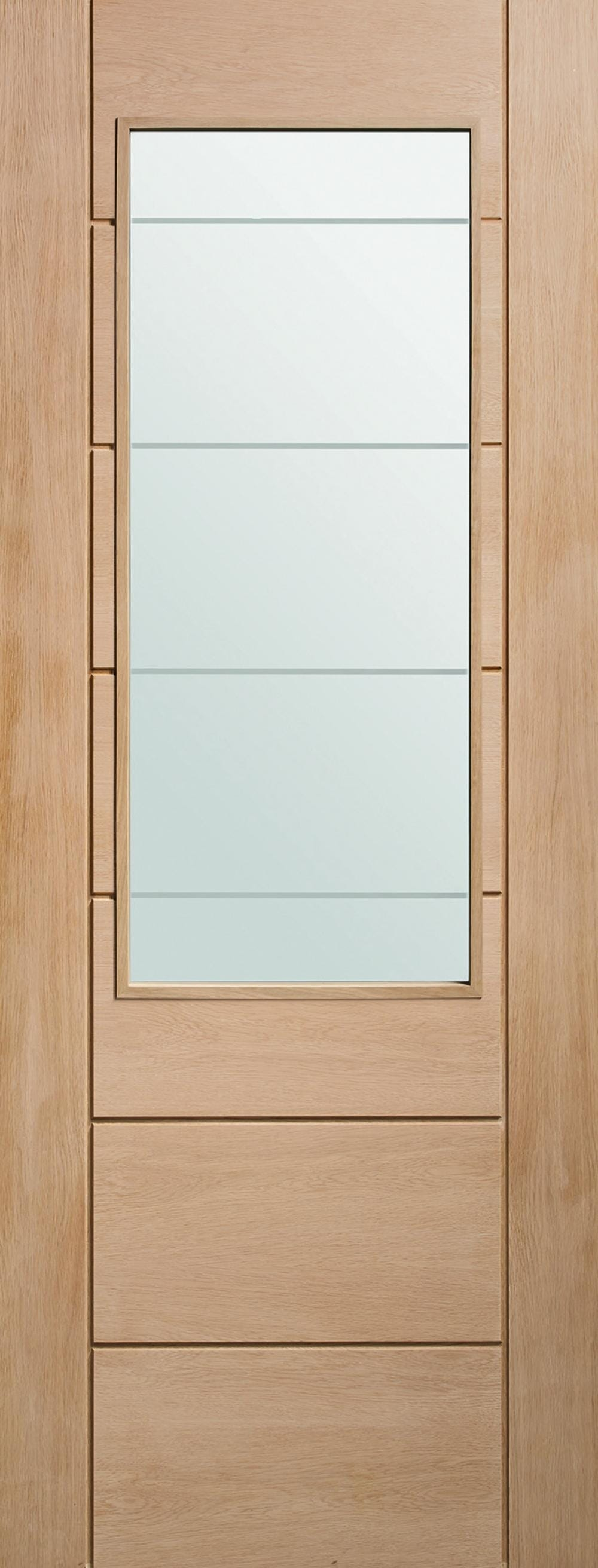 Palermo Oak 2xg - Clear Etched Glass Image