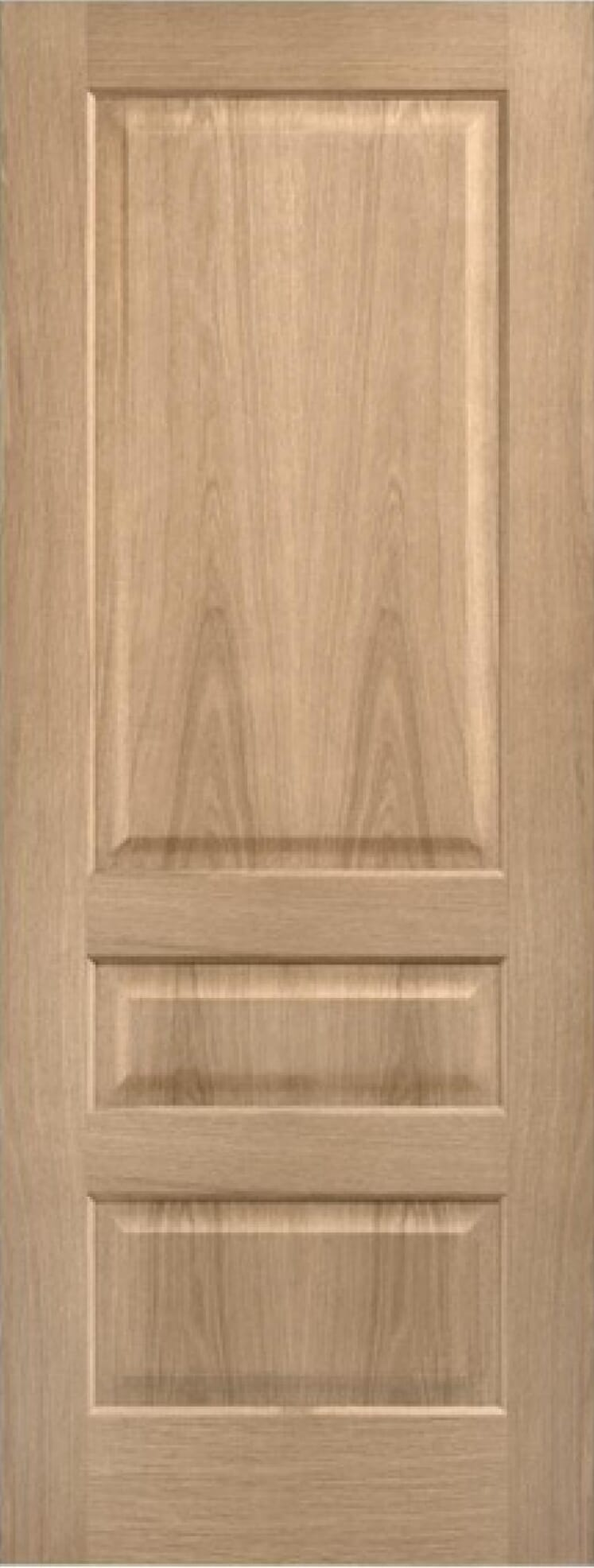 Oak Contemporary 3 Panel Door - Prefinished Image