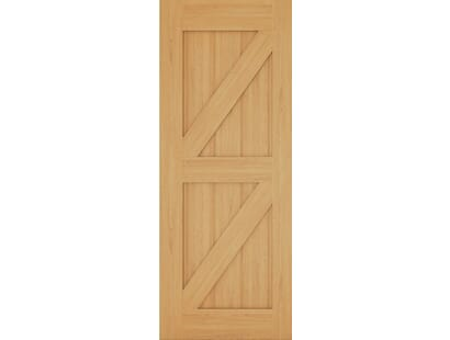 Galway Ledge & Brace Oak Door Image