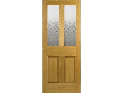 Malton Screenprint Glazed Oak Door Image