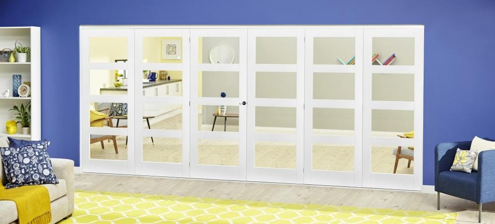 White 4l Roomfold Deluxe - Clear Glass Image