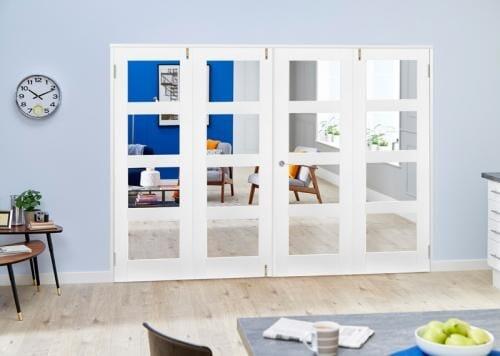 White 4L Folding Room Divider ( 4 x 610mm doors)