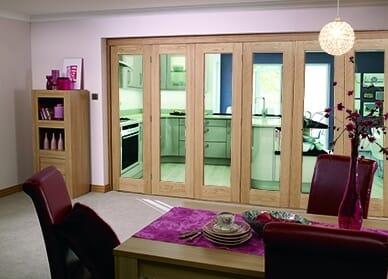 Glazed Oak Prefinished 6 door Roomfold (5+1 x 2