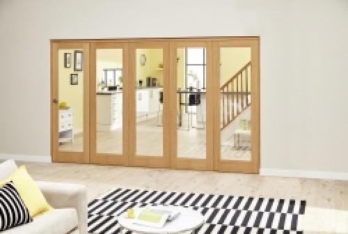 Oak P10 Roomfold Deluxe (5 x 610mm doors)