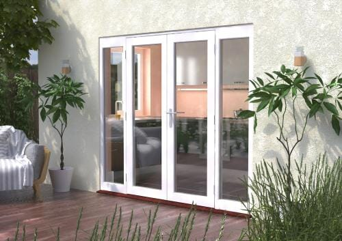 2400mm (8ft) Classic French Doors - 1500 Pair + 2 x 450mm Sidelights Image