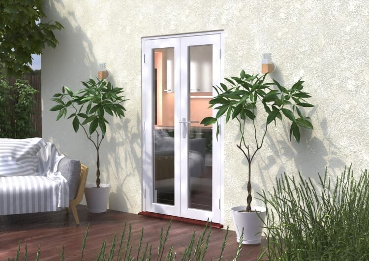 1200mm (4ft) Classic White French Doors - Climadoor Image