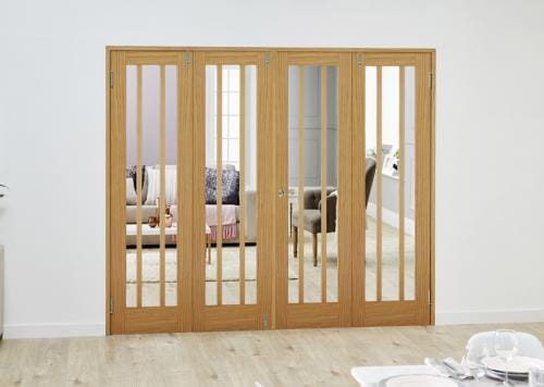 Lincoln Oak Folding Room Divider ( 4 x 686mm Doors)