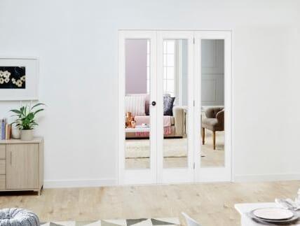 Slimline White P10 Roomfold Deluxe ( 3 x 381mm doors )