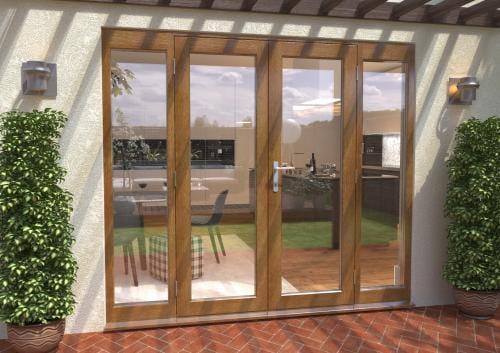 2400mm Solid Oak French Door Set Image