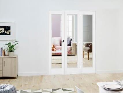 Slimline White P10 Roomfold Deluxe ( 3 x 457mm doors )