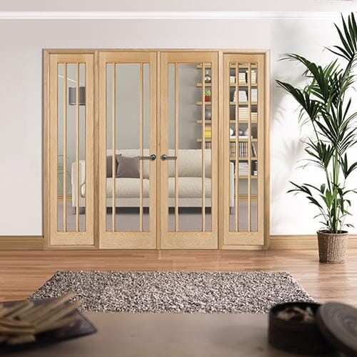 W8 Lincoln Oak Interior French Doors