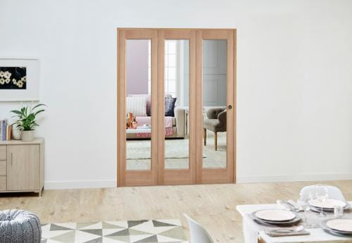 Slimline Oak P10 Roomfold Deluxe ( 3 x 457mm Doors )