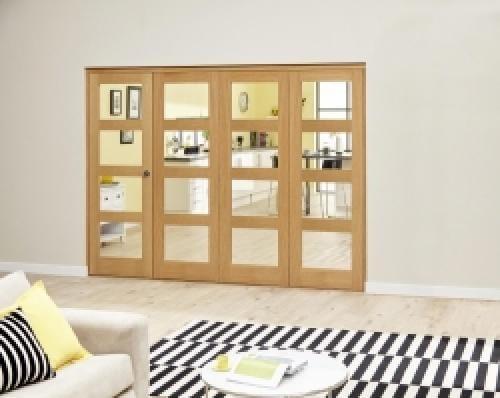Oak 4L Clear Roomfold Deluxe (4 x 533mm doors)