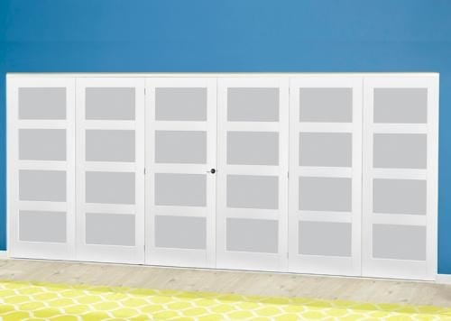 White 4L Frosted Roomfold Deluxe ( 3 + 3 x 686mm doors )