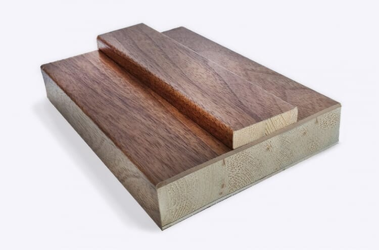 Walnut Shaker Door Lining 133mm X 30mm (removable Stop Included) Image