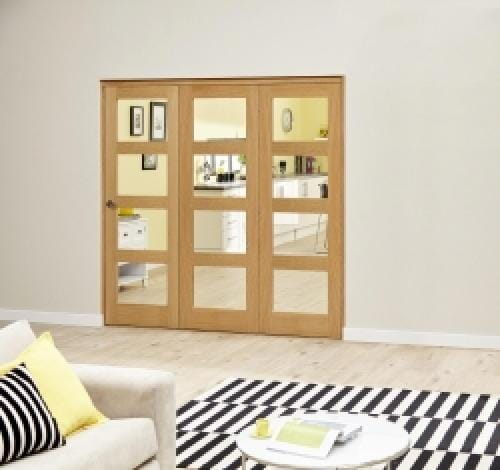 Oak 4L Clear Roomfold Deluxe (3 x 686mm doors)