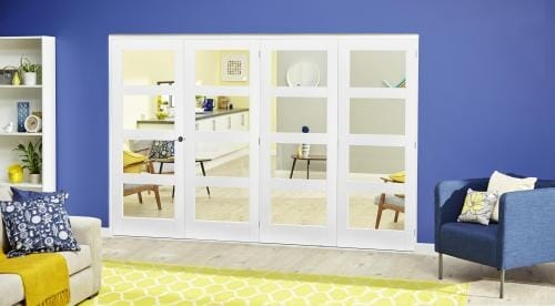 White 4L Roomfold Deluxe ( 4 x 610mm doors )