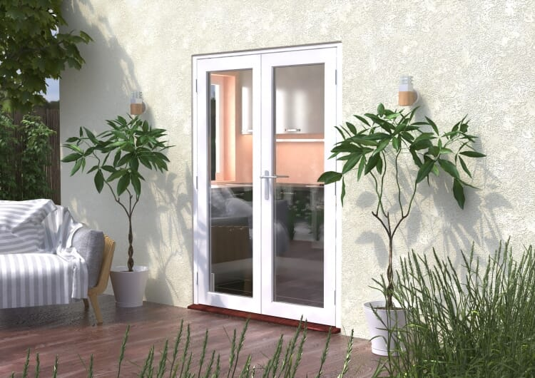 1500mm (5ft) Classic White French Doors - Climadoor Image