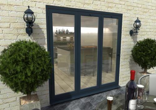 2100mm Grey Aluminium Bifold Doors - CLIMADOOR Image
