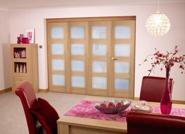 Oak Pre finished 4L Roomfold door (4 x 1